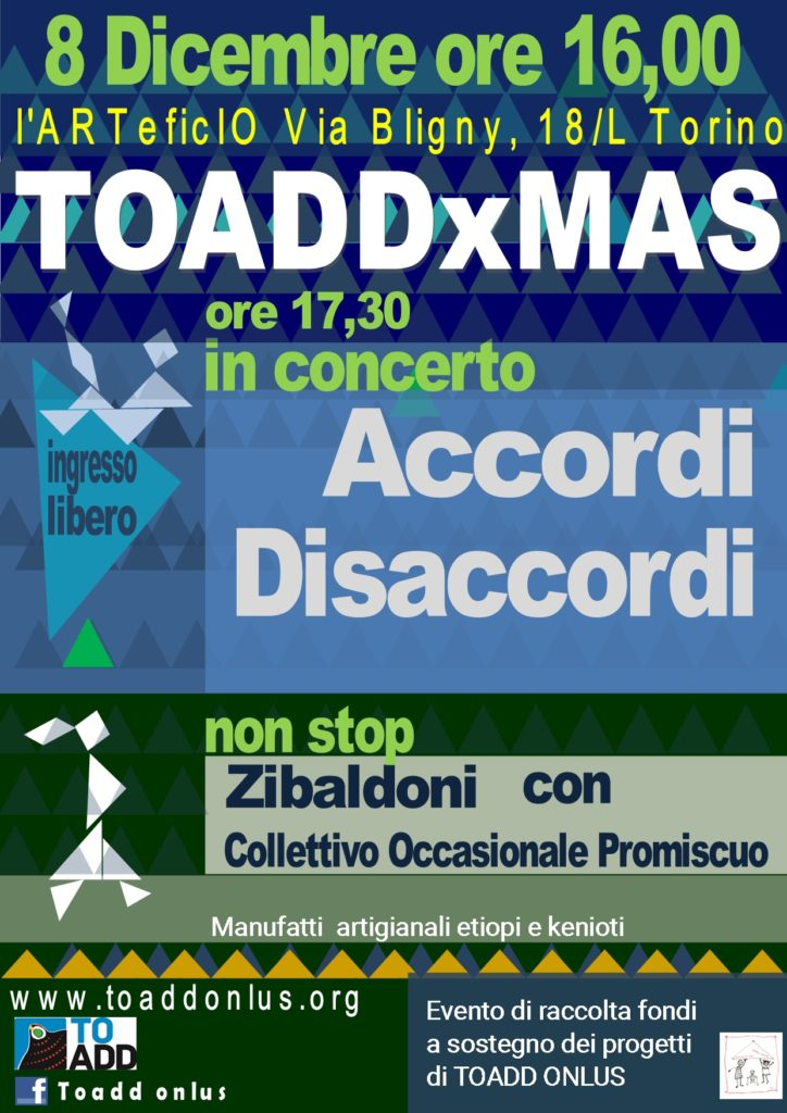 Natale con TOADD all'Arteficio di Torino